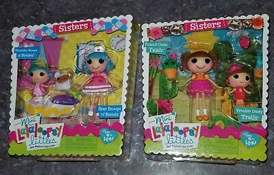 $34.99 • Buy Mini Lalaloopsy Littles Sisters Doll Sets X2 BUMPS N BRUISES & DUSTY TRAILS New