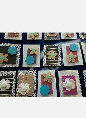 £2.99 • Buy 20 + 10 Bonus FLOWER CARD TOPPERS, CRAFT, HANDMADE, For Projects And Cards