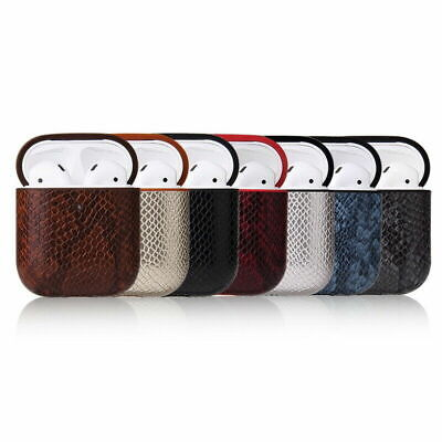 AU17.82 • Buy For Airpods Pro Hook Airpods Earphone Charging Box Snake Skin PU Leather Case