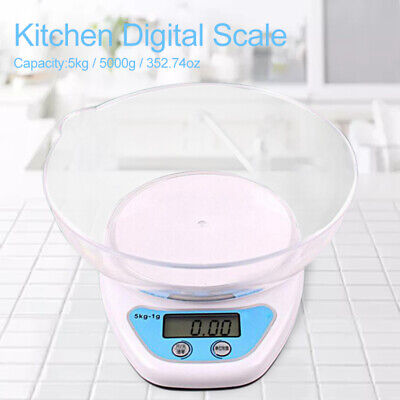 5kg LCD Digital Scales Electronic Cooking Food Measuring Bowl Scale Kitchen Tool • 4.69£