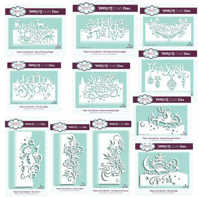 £8.95 • Buy Creative Expressions * Paper Cuts Dies * Christmas Collection 2019 * Edger Dies
