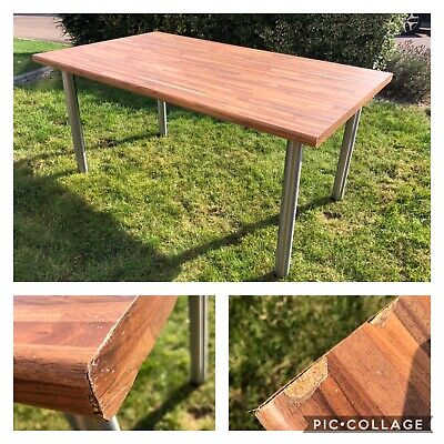 Chrome Breakfast Bar Legs Adjustable Height Table Worktop (will Sell Separately) • 45£