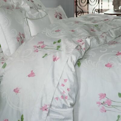 Yves Delorme Cyclamen Duvet Cover Set 5ft King Reversible + 2 Pillowcases £450+ • 310£
