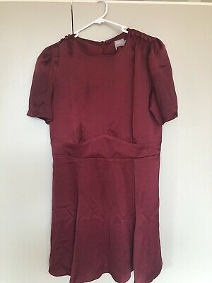 AU15 • Buy Maroon Red Asos Dress Size 14