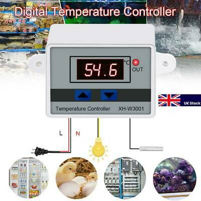 Incubator Digital Temperature With Control Thermostat Switch+Probe Controller UK • 6.29£