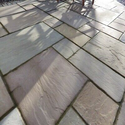 Raj Green 18.m2 Indian Sandstone Paving Slabs Flags 48hr Nationwide Delivery ✔ • 480£