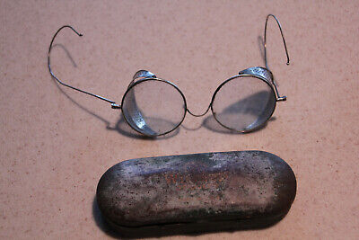 $25 • Buy Steampunk Willson Antique Weld Glasses/Motorcycle Goggles+Case-Folding,Metal VTG