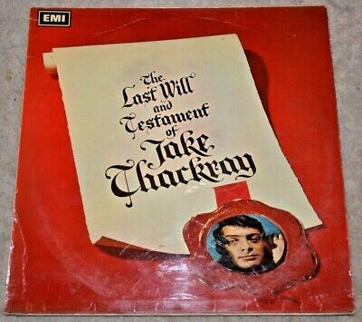JAKE THACKRAY The Last Will And Testament Of Jake Thackray LP Vinyl Record EMI • 7.50£