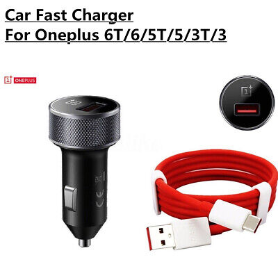 AU15.52 • Buy Original Oneplus 7 Pro/ 6T/6/5T/5/3T Dash Fast Car Charger Adapter Type-C Cabl
