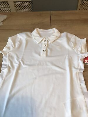 Wilson Small Childs Girls Tennis Top Age 6-8 White New With Tags • 10£