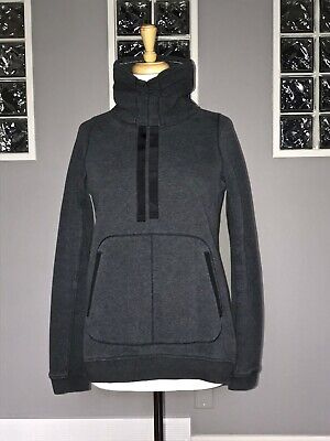 $ CDN66.30 • Buy Lululemon Avenue Pullover 6 Heathered Black Long Sleeve Sweater Cotton Fleece