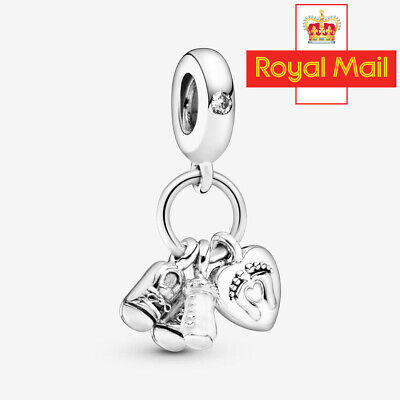£15.99 • Buy Baby Bottle & Shoes Dangle Charm Pandora Genuine S925 Sterling Silver Little