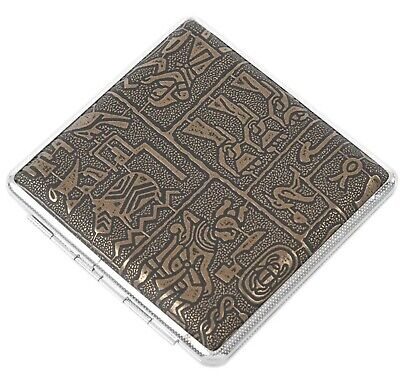 High Quality Egyptian Vintage Style Metal Cigarette Case/Box Gift • 12.99£
