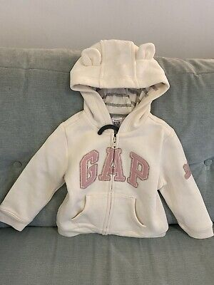 Gap Hoodie With Bunny Ears.Size-18-24 Months • 10£