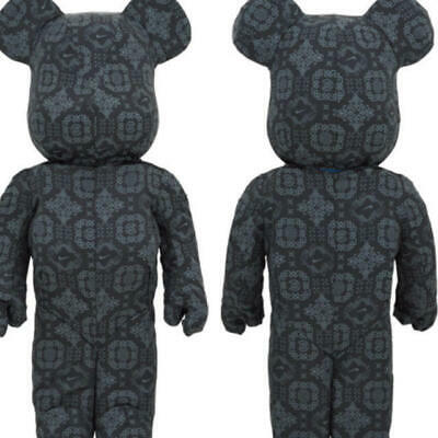 $4300 • Buy BE@RBRICK NIKE X CLOT 1000% Bearbrick Black Silk