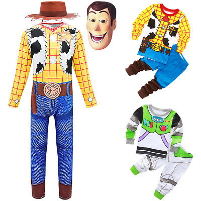 Boy Toy Story Buzz Lightyear Jumpsuit Woody Outfit Cosplay Costume Fancy Dress • 7.79£