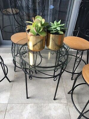 AU450 • Buy Vintage Wrought Iron Chairs And Coffee Table
