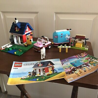LEGO Creator Small Cottage (31009) - Instructions Friends 3186 Horse Sets 99% • 40£