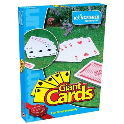 New Jumbo Giant Playing Cards Outdoor Family Activity Garden Fun Party Games  • 6.95£
