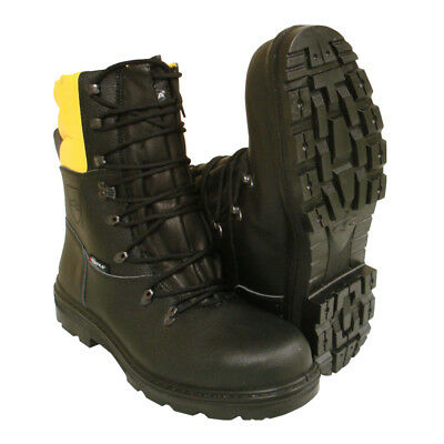 Chainsaw Forestry Boots Black And Yellow Aborist COFRA Class 1 Size 6.5 Euro 40 • 61.49£
