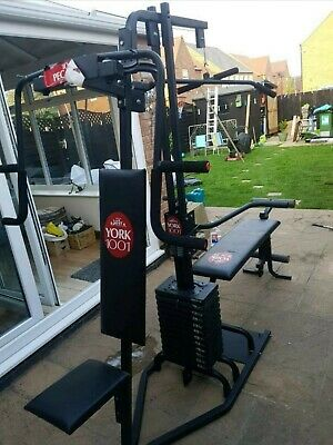 York Weights Plates For Multigym Bench 6 Plates Fits York Pro Power • 149.99£