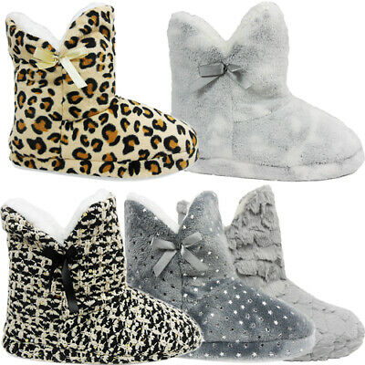 £6.95 • Buy Womens Ladies Ankle Boots Booties Slippers Shoes Size Winter Warm Indoor Outdoor