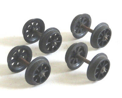 4 X Triang Spoked Wheelsets For Wagons, Spares, Wheels • 1.99£