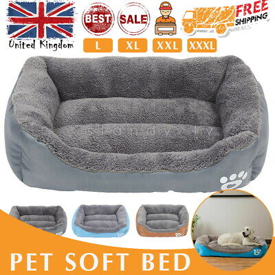Dog Beds Kennel Blanket Extra Large Pet Cushion House Waterproof Soft Warm Bed*- • 15.99£