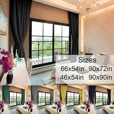 Multicolor Blackout Curtains  Ready Made Eyelet Ring Top Pair Curtains Panel • 18.29£