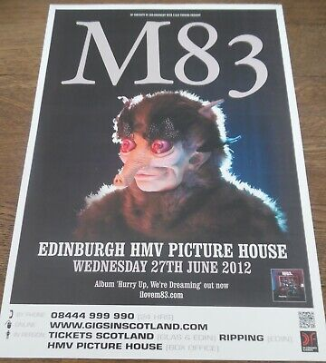 $6.61 • Buy M83 - Live Music Show June 2012 Promotional Tour Concert Gig Poster