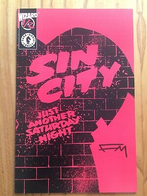 Sin City Wizard 1/2 Signed By Frank Miller • 15£