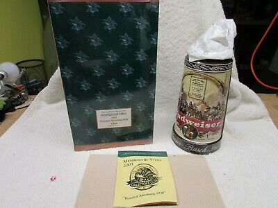 $ CDN19.36 • Buy Budweiser's Membership Lidded Stein Historical Advertising 1936 CB24 COA NIB