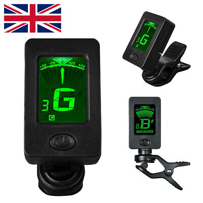 $ CDN6.89 • Buy Electric Digital Guitar Tuner LCD Clip-on Chromatic Acoustic Bass Ukulele Violin