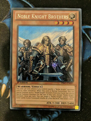 Noble Knight Brothers PRIO-EN081 Secret Rare 1st Edition YuGiOh • 4.99£