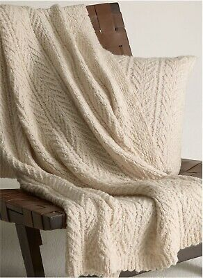 £183.84 • Buy NWT Cable-Knit $695 Vince Wool Cashmere Blanket Throw