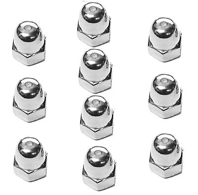 £9.95 • Buy A2 M10 X 1.25 Metric Fine Dome Nuts (Packs Of Ten) - Multi-Listing