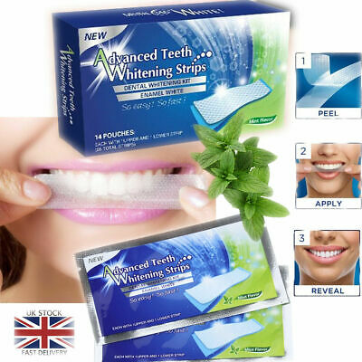 AU14.43 • Buy 28 Advanced Teeth Whitening Strips Home Teeth Bleaching