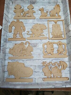 3 Mm Mdf Wood Novelty Craft Blank Hanging Childrens Plaques Different Designs • 3£