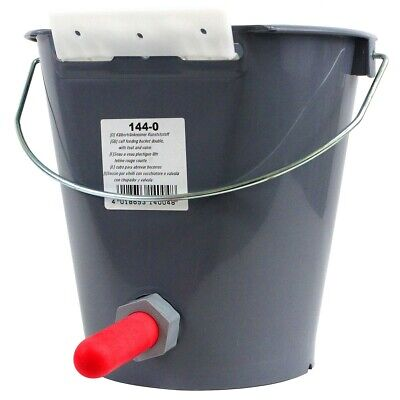 CALF BUCKET FEEDER WITH BRACKET VALVE AND SUPER TEAT 5L Cow Calves Dairy 144 • 11£