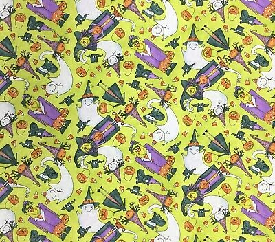 AU5.50 • Buy Halloween Fabric, Cotton Witches And Ghosts Fat 1/4