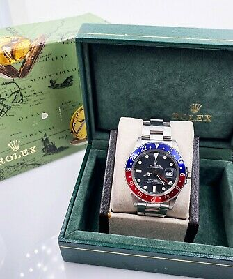 $ CDN26061.49 • Buy VINTAGE Rolex GMT Master 16750 Pepsi Matte Dial Stainless UNPOLISHED 1983