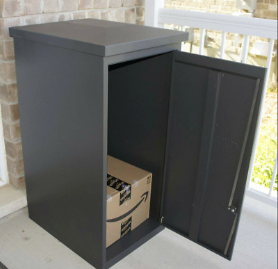 $585.64 • Buy Parcel Drop Box Large Locking Mailbox Secure Package Delivery Steel Locker Mail
