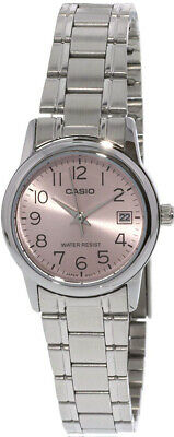$ CDN28.86 • Buy Casio Women's Analog Quartz Pink Dial Date Stainless Steel Watch LTPV002D-4B