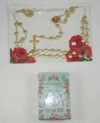 £7.19 • Buy PROMISES From GOD For Women; A Box Of Blessing Cards + St Therese Blessed Rosary