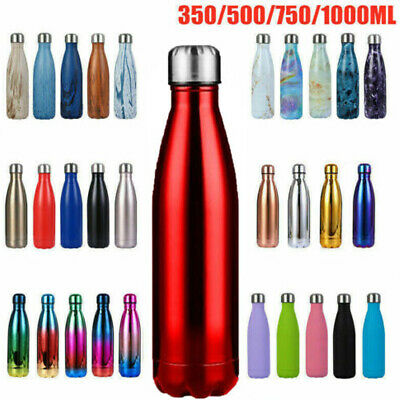 AU22.29 • Buy 0.35-1L Water Bottle Vacuum Insulated Flask Thermos Hot Chilly Sports Gym Drinks