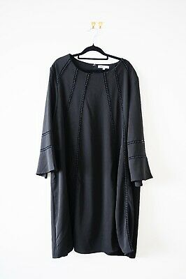 AU9.50 • Buy Curve Plus Size Truly You ASOS Black Shift Dress Size 24 - Pre Owned