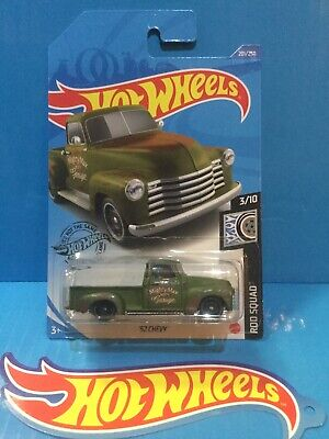 AU4.74 • Buy 2021 Hot Wheels New A Case '52 Chevy Pickup Truck Rod Squad 3/10 #201 Green