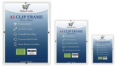 £3.99 • Buy Clip Frame Frameless Picture Frame Photo Poster Certificate Non Glass