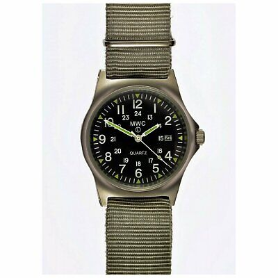 MWC G10 LM Military Watch 12/24 Dial Nato Strap, Date, 50m Water Resistance NEW  • 69.99£