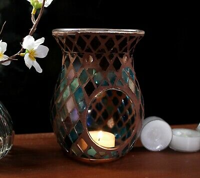 Mosaic Yankee Candle Holder Gift Christmas Home Tea Light Wax Burner Melt Oil   • 8.99£